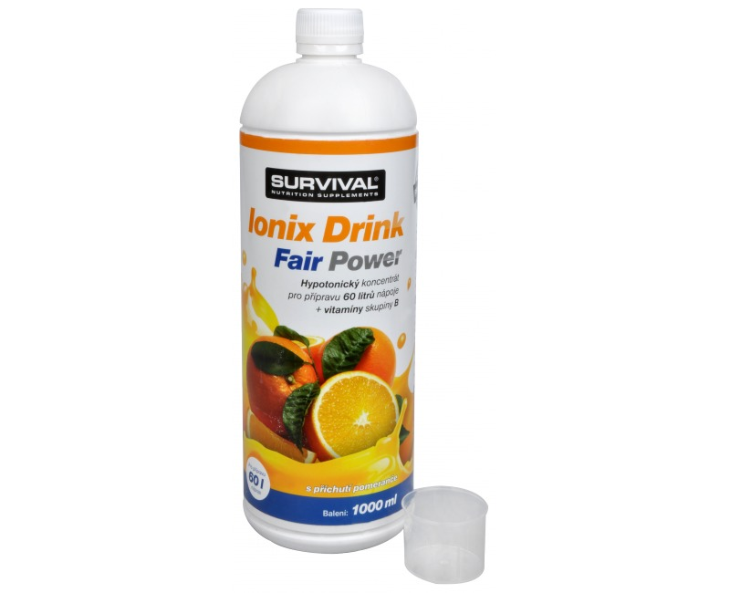 Survival Ionix Drink Fair Power 1000 ml Pomeranč