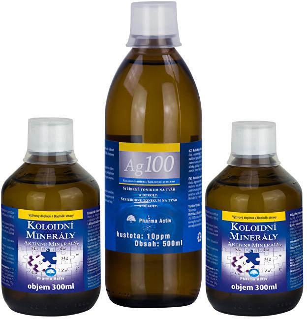 Zobrazit detail výrobku Pharma Activ Koloidní minerály 2x 300 ml + Koloidní stříbro Ag100 (10ppm) 500 ml ZDARMA