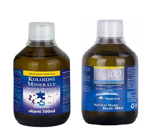 Zobrazit detail výrobku Pharma Activ Koloidní minerály 300 ml + Koloidní stříbro Ag100 (10ppm) 300 ml