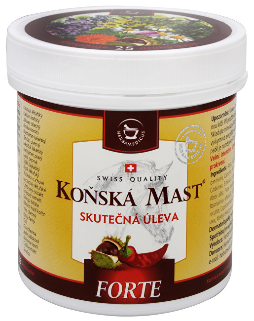 Zobrazit detail výrobku Herbamedicus Koňská mast Forte hřejivá 250 ml
