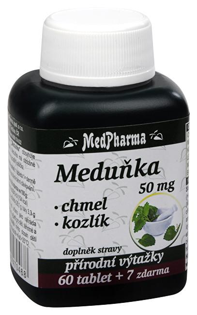 Zobrazit detail výrobku MedPharma Meduňka 50 mg + chmel + kozlík 60 tbl. + 7 tbl. ZDARMA