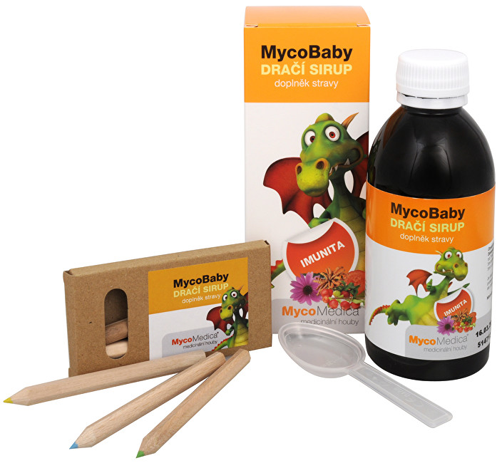 MycoBaby dračí sirup 200 ml + pastelky ZDARMA