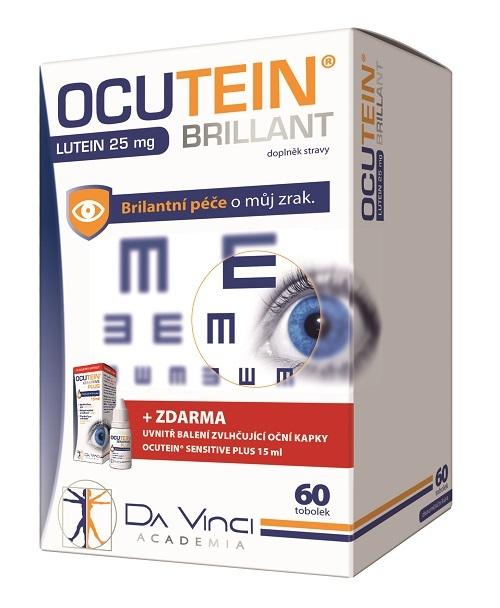 Zobrazit detail výrobku Simply You Ocutein Brillant Lutein 25 mg 60 tob.+ Ocutein® Sensitive zvlhčující oční kapky 15 ml ZDARMA