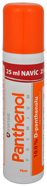 Panthenol 10% Swiss PREMIUM pěna 125 ml + 25 ml ZDARMA