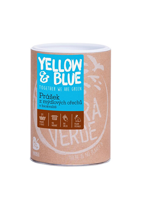 Zobrazit detail výrobku Yellow & Blue Prášek z mýdlových ořechů v bio kvalitě dóza 0,5 kg