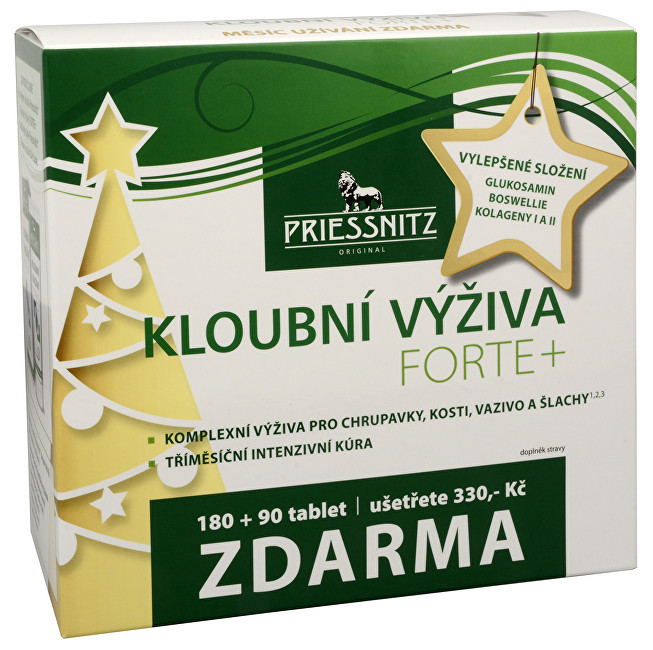 Zobrazit detail výrobku Simply You Priessnitz kloubní výživa Forte + kolageny 180 tbl. + 90 tbl. ZDARMA