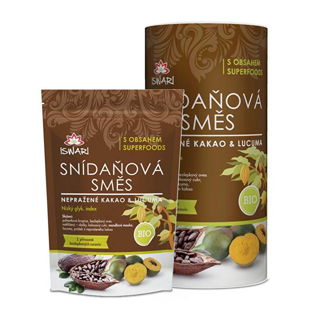 Zobrazit detail výrobku Iswari BIO snídaňová směs Nepražené kakao a lucuma 300 g