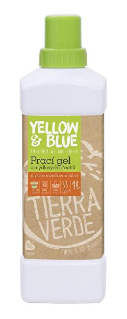 Zobrazit detail výrobku Yellow & Blue Prací gel z mýdlových ořechů s pomerančovou silicí 1 l