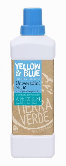 Zobrazit detail výrobku Yellow & Blue Univerzální čistič pro domácnost z mýdlových ořechů s přírodní pomerančovou silicí 1 l