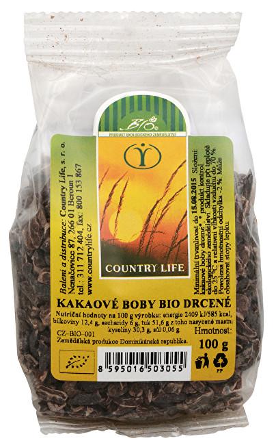 Zobrazit detail výrobku Country Life Bio Kakaové boby nepražené drcené 100 g