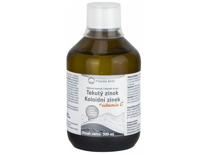 Zobrazit detail výrobku Pharma Activ Koloidní zinek + vitamín C liquid 300 ml