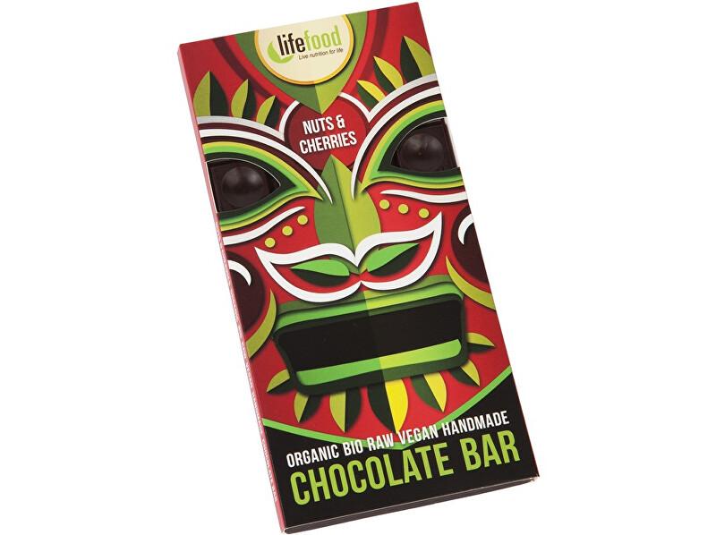 Lifefood Bio Lifefood Chocolate s kousky ořechů a třešní 70g