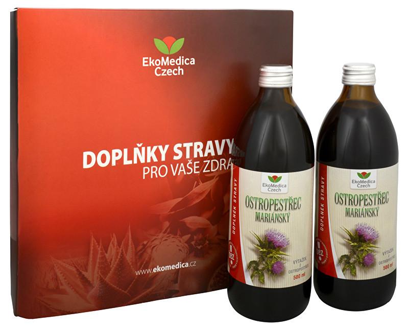 Zobrazit detail výrobku EkoMedica Czech Ostropestřec mariánský 500 ml + 500 ml