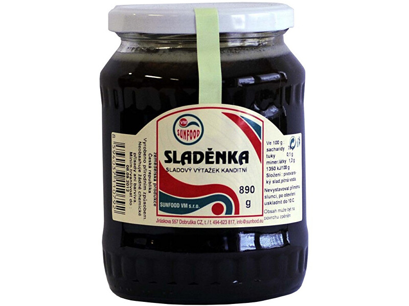 Zobrazit detail výrobku Sunfood Sladěnka - ječmenný slad, sklo 890g