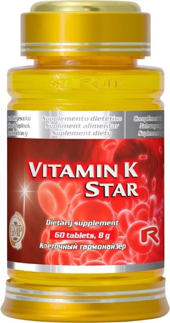 Zobrazit detail výrobku STARLIFE VITAMÍN K STAR 60 tbl.