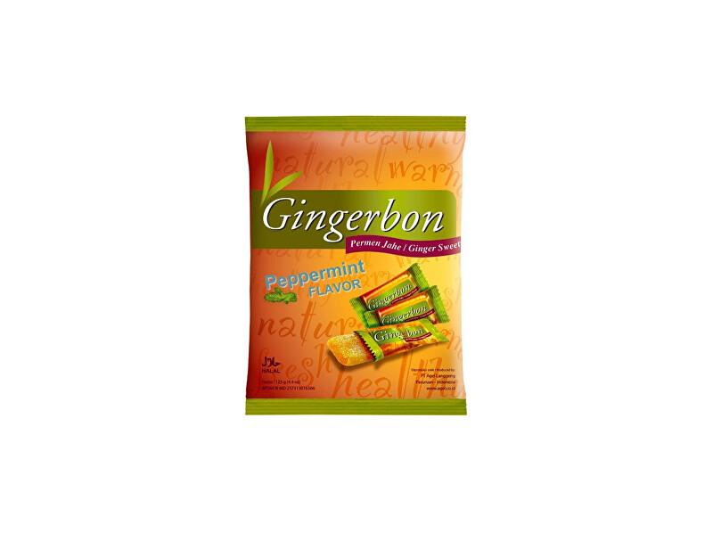 Zobrazit detail výrobku Stykra Gingerbon 125 g peprmint - zázvorové bonbony s mátou