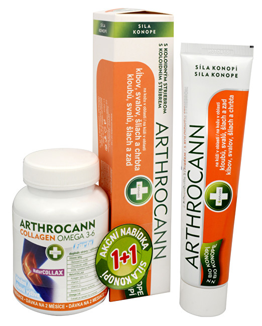 Annabis Arthrocann gel 75 ml  Arthroc.Collagen tbl.60 dárková sada