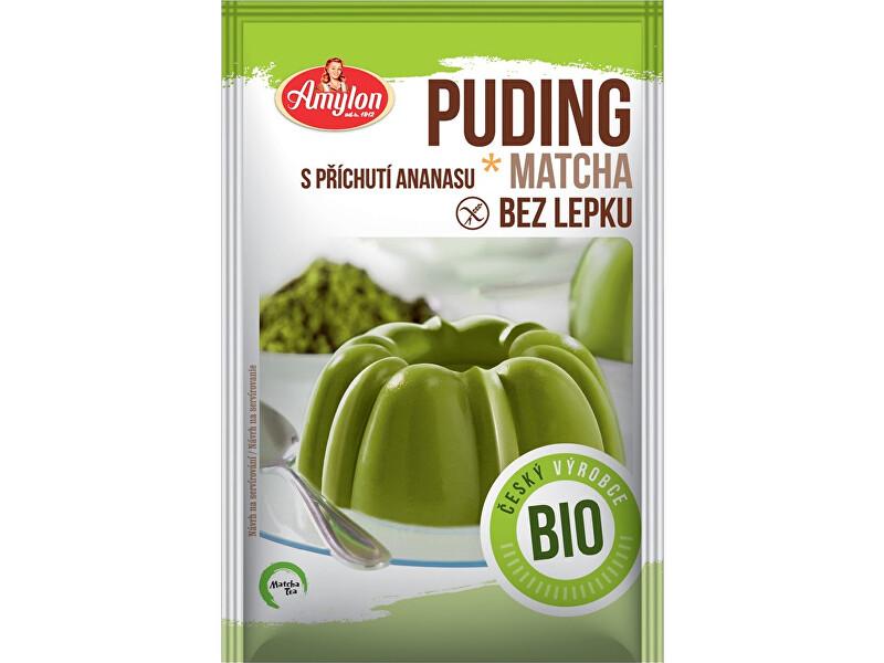 Matcha tea BIO Puding matcha ananásový, BEZ LEPKU 40g
