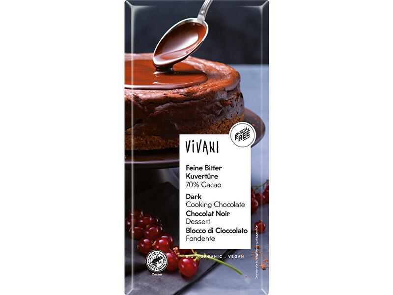 Zobrazit detail výrobku VIVANI Bio Čokoláda na vaření hořká 200g