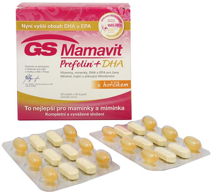 Zobrazit detail výrobku GreenSwan GS Mamavit Prefolin + DHA 30 tbl. + 30 kapslí
