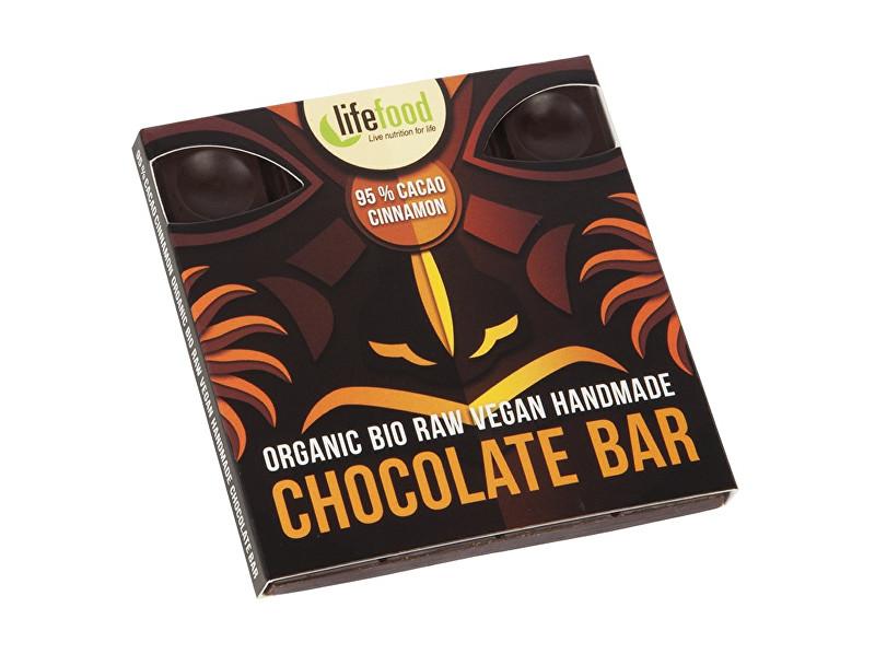 Zobrazit detail výrobku Lifefood Bio čokoláda z nepraženého kakaa 95% kakao se skořicí raw 35g