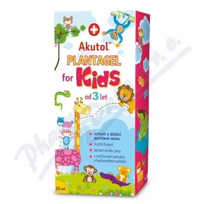 AVEFLOR AKUTOL Plantagel for kids emulgel 20ml kl.kód IIA