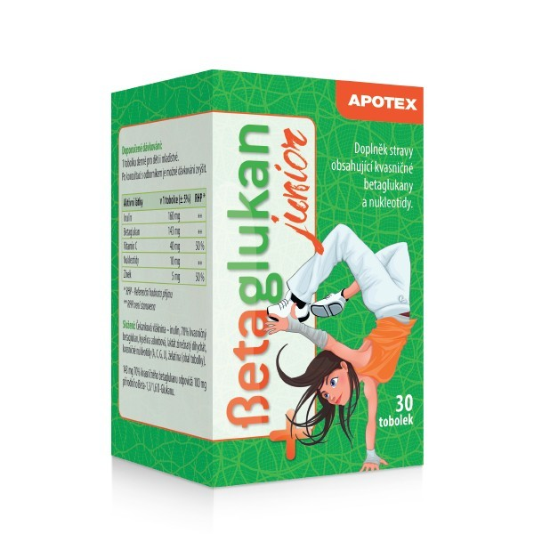 Aurovitas Betaglukan JUNIOR 100 mg 30 tob.