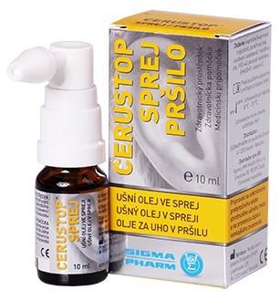 Zobrazit detail výrobku Agency MM Health Cerustop ušní olej ve spreji 10 ml