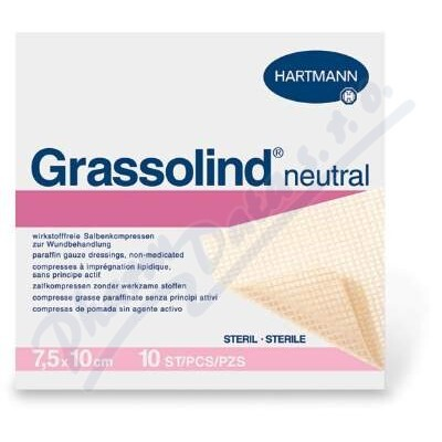 PAUL HARTMANN AG Kompres Grassolind Neutral ster.7.5x10cm 50ks