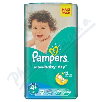 PROCTER GAMBLE PAMPERS Active Baby Maxi Plus 9-16kg 53ks