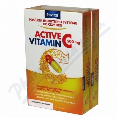 VITAR Revital Active vitamín C 500mg cps.60