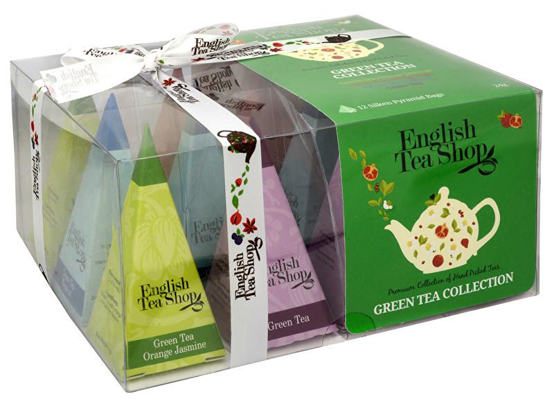 Zobrazit detail výrobku English Tea Shop Dárková kolekce 12 pyramidek Zelený čaj 4 příchutě