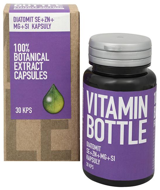 Zobrazit detail výrobku Vitamin Bottle DIATOMIT Se + Zn + Mg + Si 30 kapslí