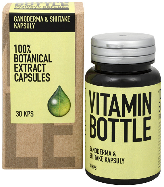 Vitamin-Bottle Ganoderma a Shiitake 30 kapslí