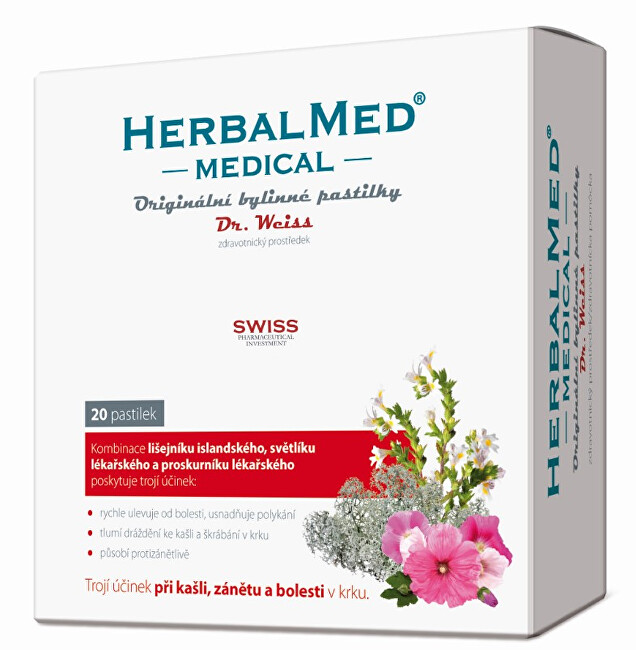 Zobrazit detail výrobku Simply You Herbalmed MEDICAL pastilky Dr. Weiss 20 pastilek
