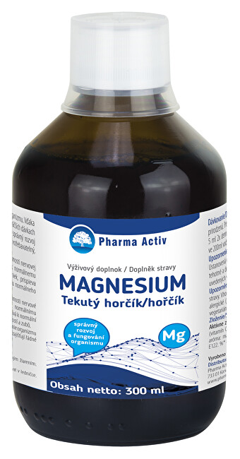 Zobrazit detail výrobku Pharma Activ Tekutý horčík + vitamín C 300 ml