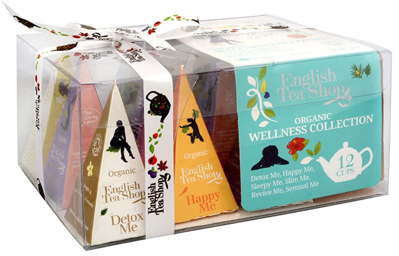 Zobrazit detail výrobku English Tea Shop Dárková kolekce 12 BIO pyramidek Wellness 6 příchutí