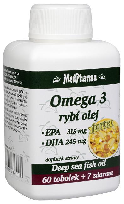 MedPharma Omega 3 rybí olej Forte 67 kapslí