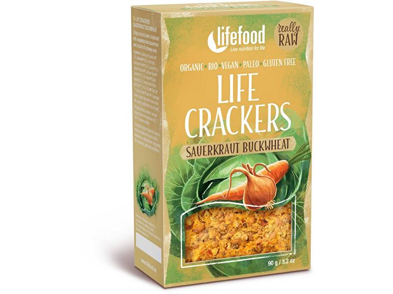 Zobrazit detail výrobku Lifefood Bio Life Crackers Zelňáky RAW 90g