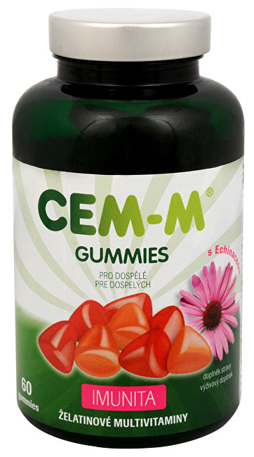 Zobrazit detail výrobku SALUTEM Pharma CEM-M Gummies pro dospělé IMUNITA 60 želatinových tbl. + 60 tablet ZDARMA