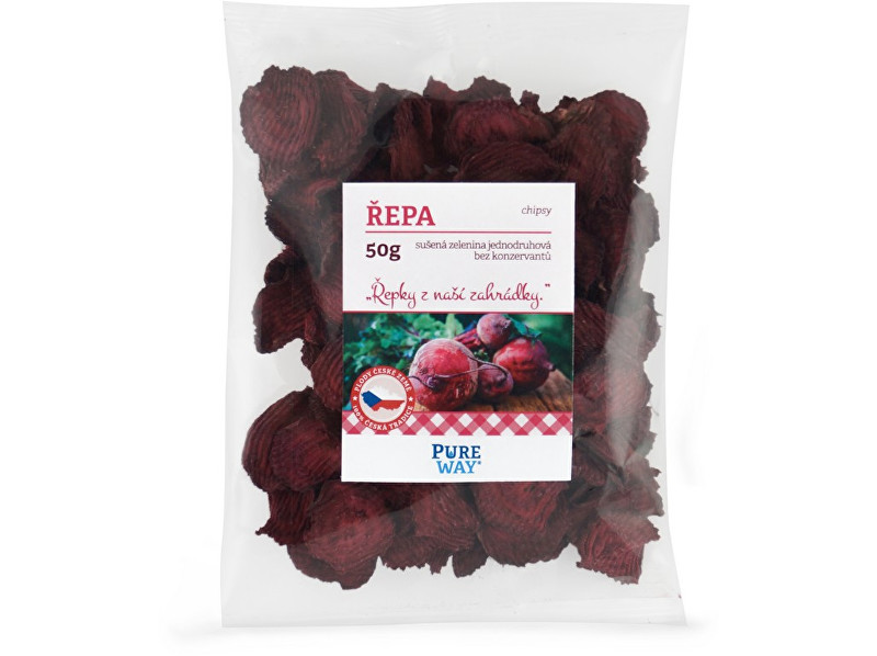 Pure Way Červená řepa - chipsy 50g
