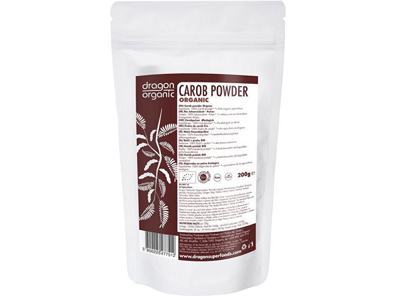 Dragon superfoods Bio Karob prášek 200g