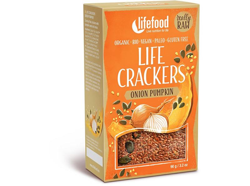 Zobrazit detail výrobku Lifefood Bio Life crackers Cibulové s dýňovým semínkem 90g