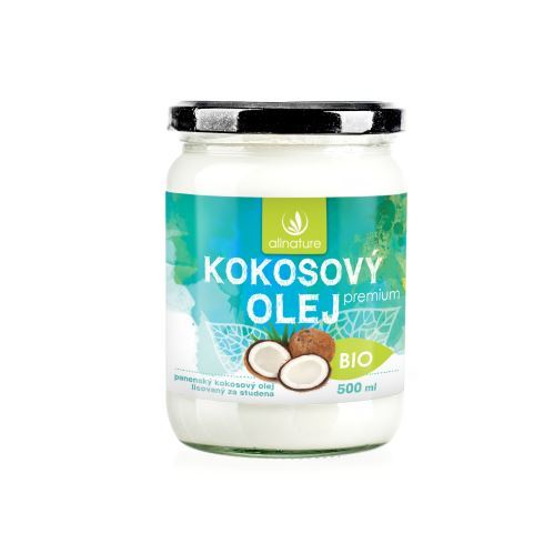 Allnature BIO kokosový olej Premium 500 ml
