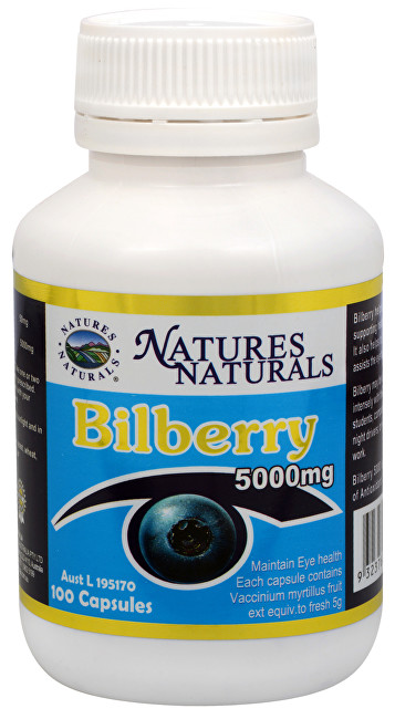 Bilberry 5000 mg 100 kapslí