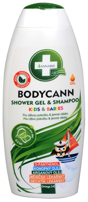 Bodycann Kids & Babies šampon a sprchový gel 2v1 250 ml