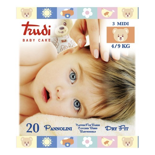 Trudi Baby Dry Fit Medium 4-9 kg 20 ks