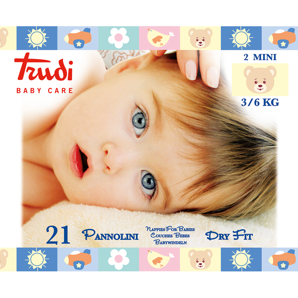 Trudi Baby Dry Fit Mini 3-6 kg 21 ks