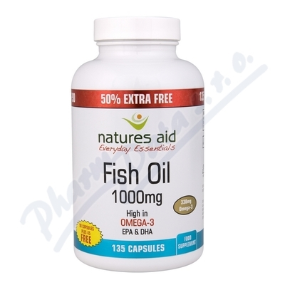 Natures Aid Ltd. Omega 3 (1000mg) rybí olej cps.90+45