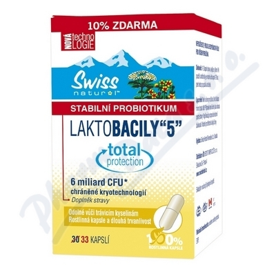 SWISS HERBAL REMEDIES LTD Swiss LAKTOBACILY 5 cps.33